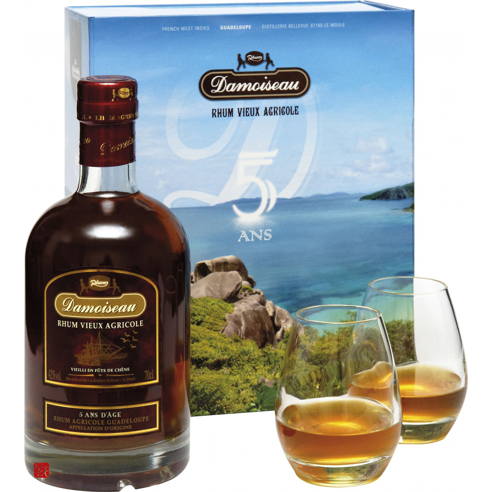 damoiseau 5 ans coffret verres rhum agricole rhum de guadeloupe. Black Bedroom Furniture Sets. Home Design Ideas